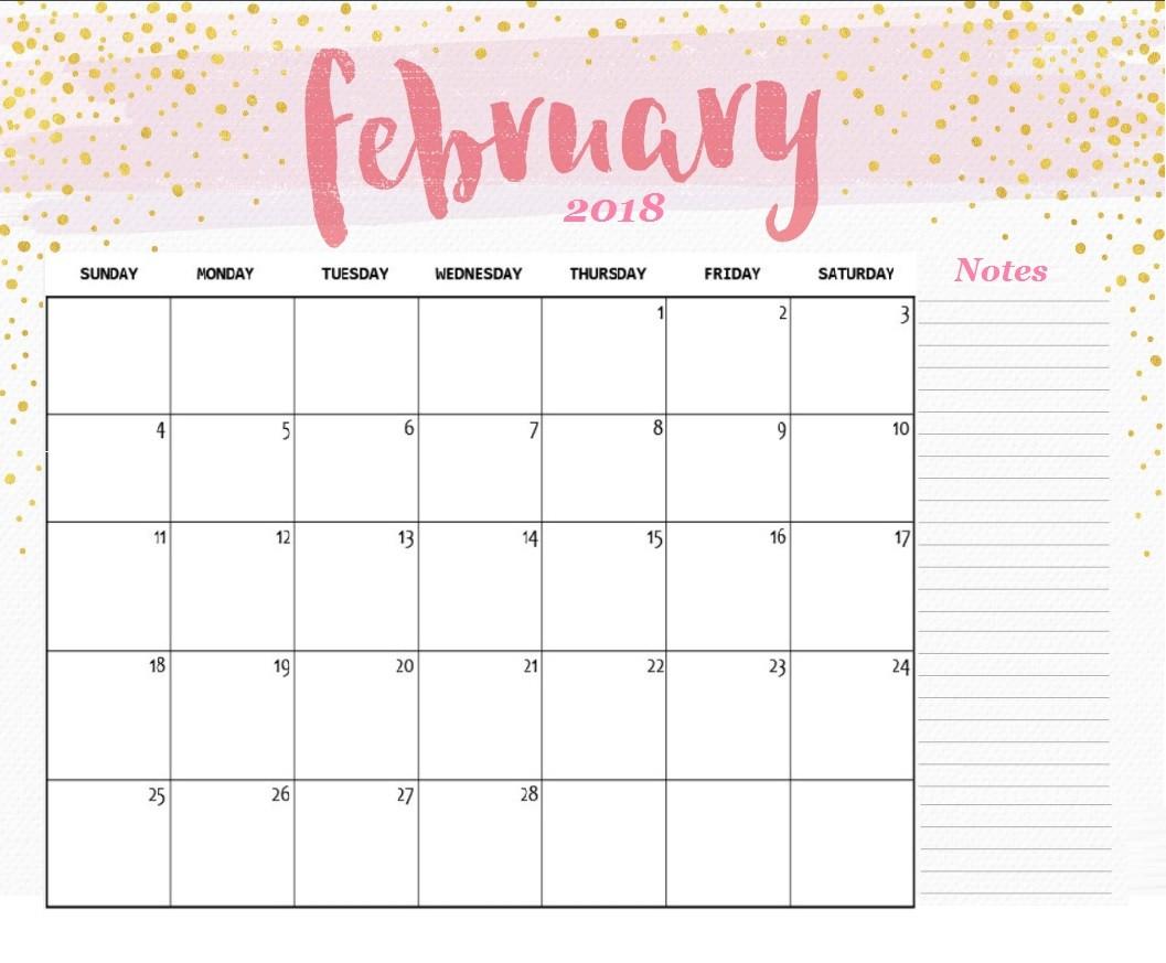 February Calendar Printable Free Printable 2018 Desk Calendar