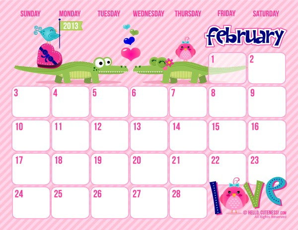Butterfly Kisses of Love Free Cute Printable February