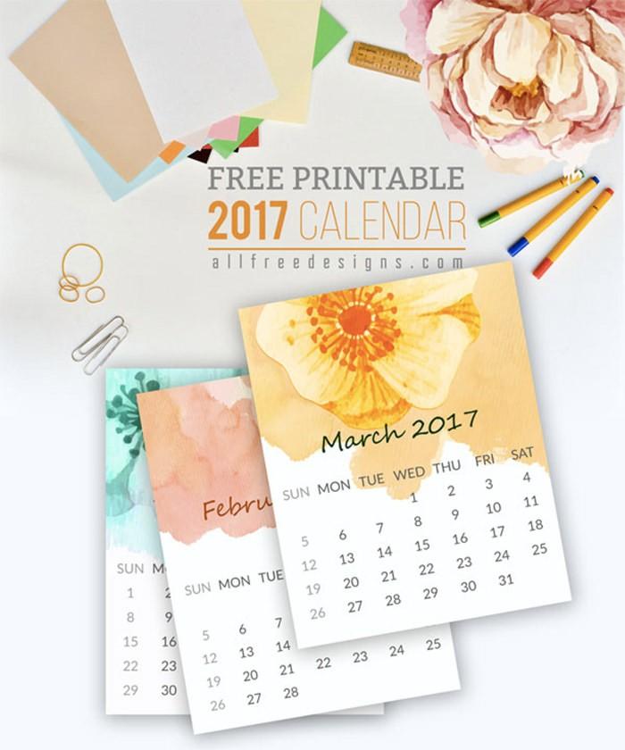 Free Printable Mini Calendar 20 Free Printable Calendars for 2017 Hongkiat
