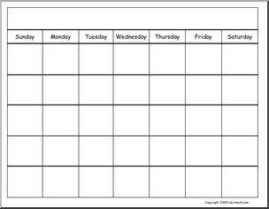 Generic Printable Calendar Calendars Blank Generic Calendar