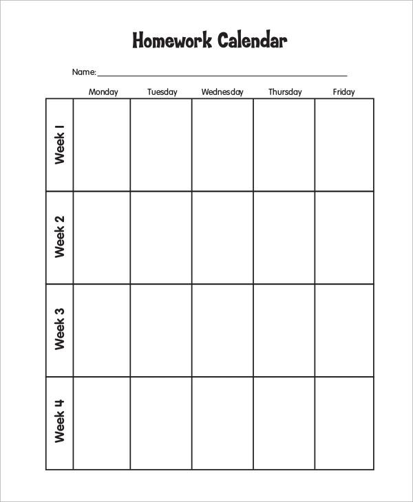 10 Free Printable Weekly Calendars