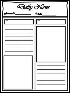 Blank Newspaper Template For Kids Printable