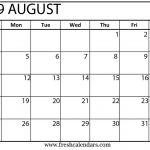 Monthly 2019 Printable Calendar August 2019 Calendar Printable Fresh Calendars