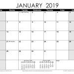 Monthly 2019 Printable Calendar Free Printable Calendar Printable Monthly Calendars