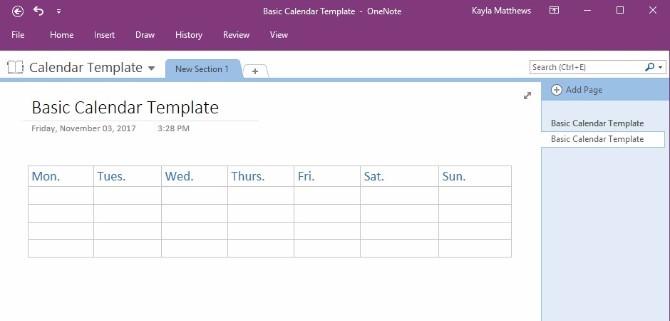 How to Create a eNote Calendar Template