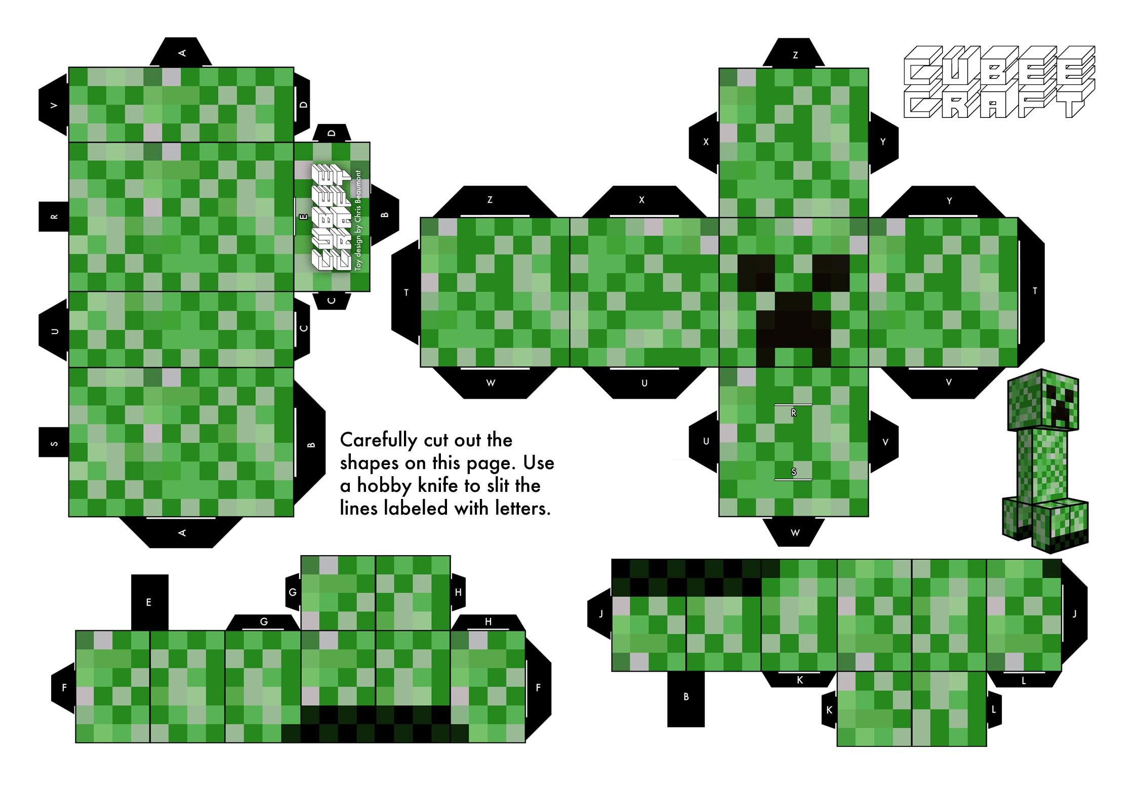Papercraft Minecraft Creeper Creepers Papercraft Creepers Paper toys Paper toys