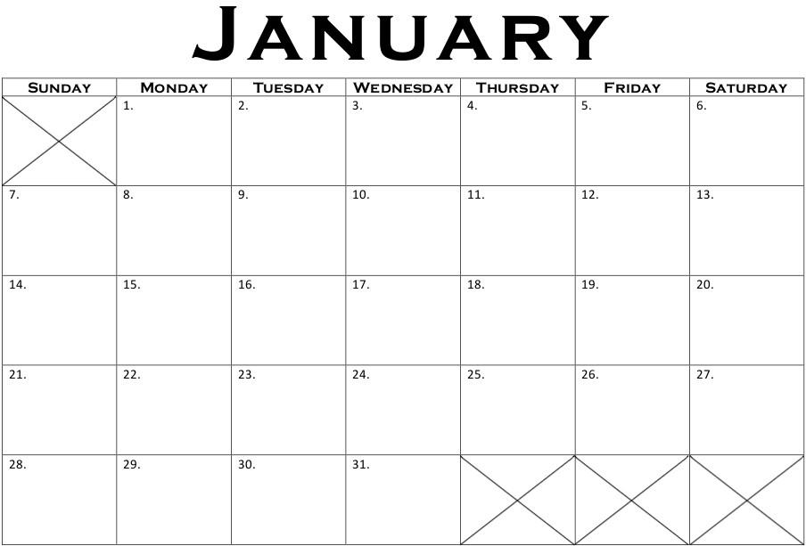 Printable Calendars and Printable Calendar Templates