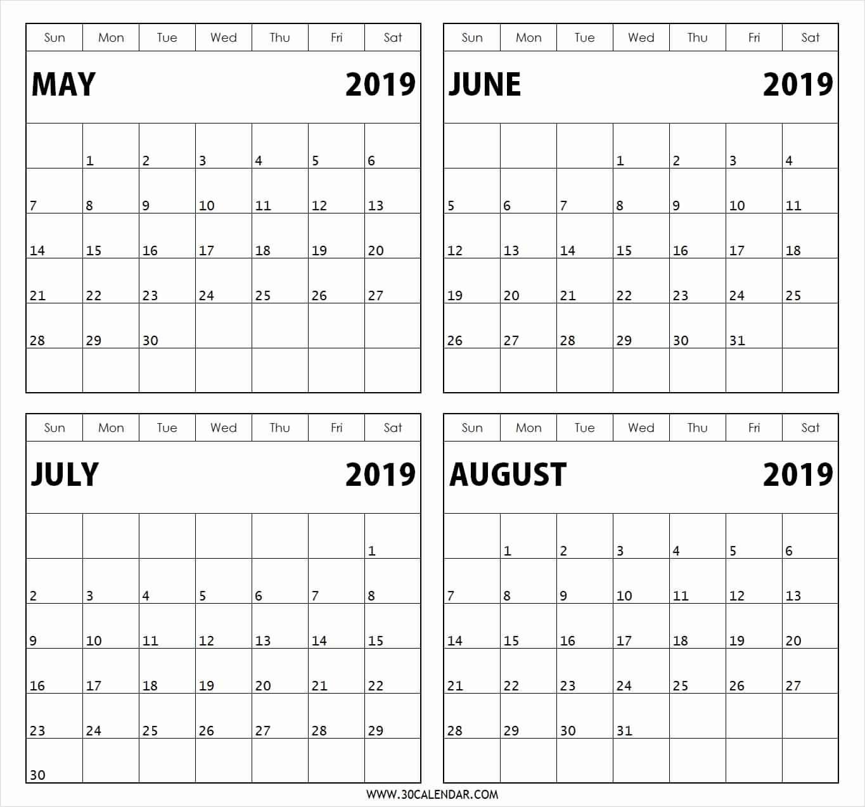 Printable Calendar 2 Months Per Page Printable Calendar 2019 2 Months Per Page