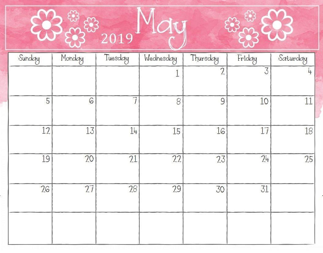 May 2019 Weekly Calendar Printable Blank Templates