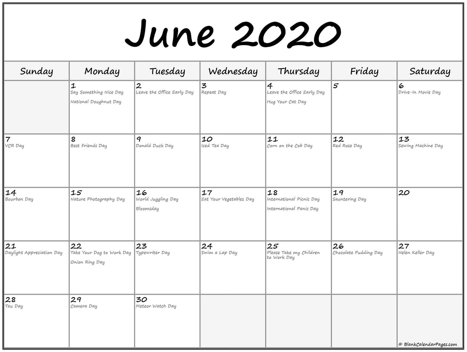 Printable Calendar May and June 2020 Collection Of June 2020 Calendars with Holidays