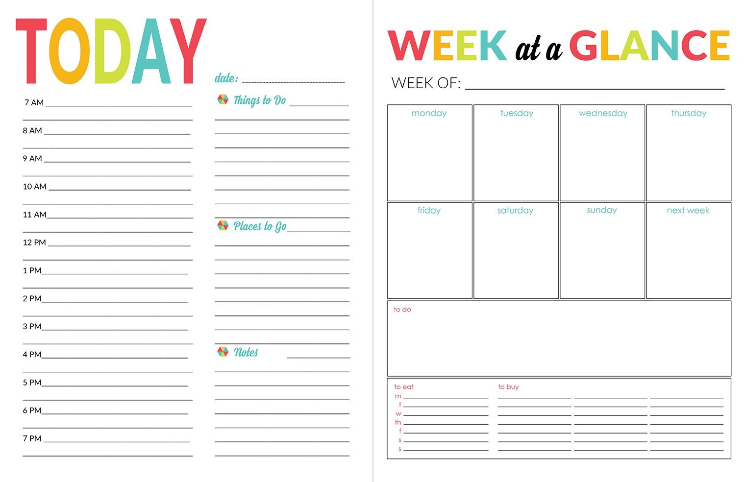 Printable Calendar organizer School Year organizer & Planner Printable Pack Yellow
