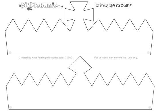 Make A Crown Free Printable Crown Template Picklebums