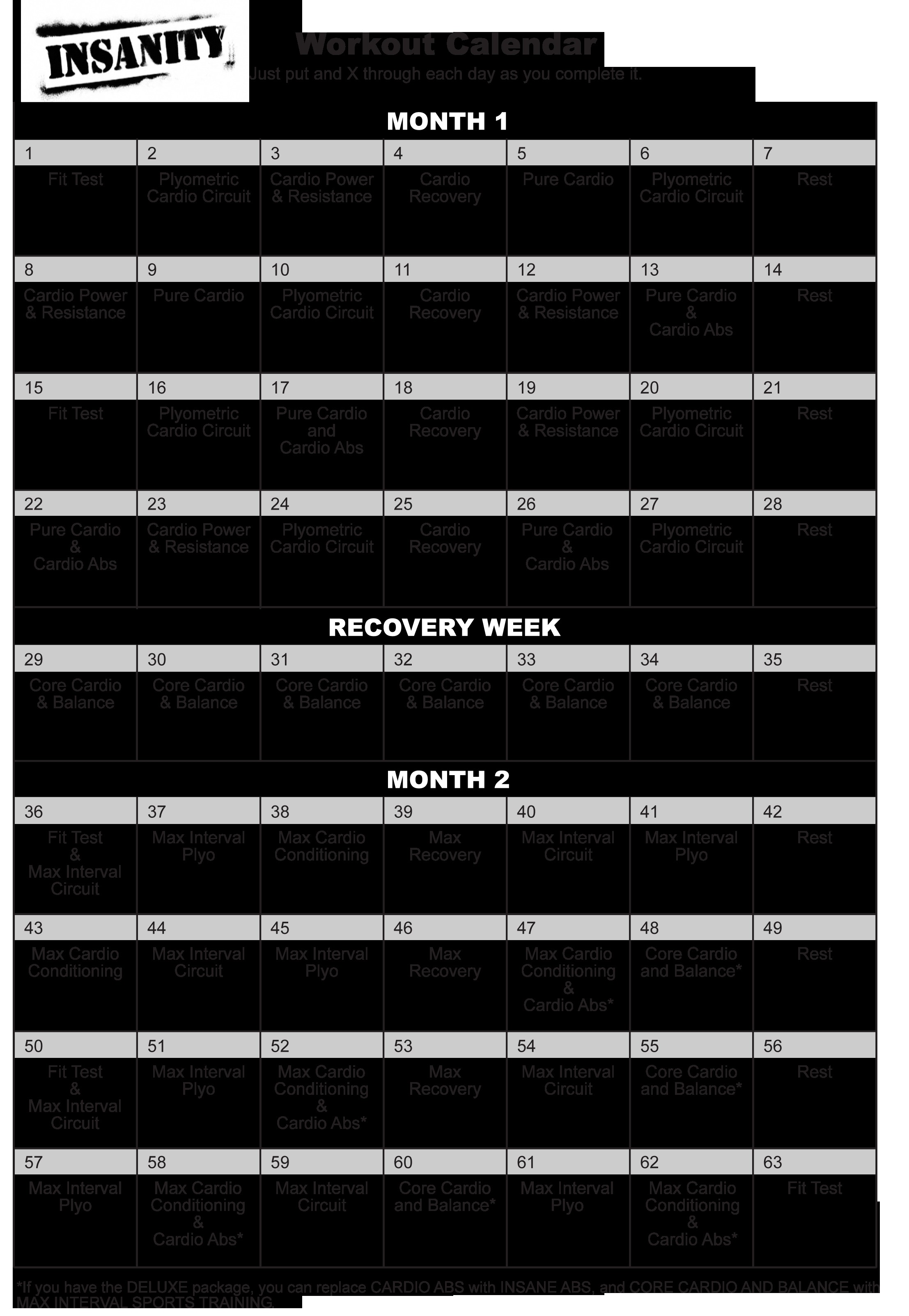 Printable Insanity Workout Calendar Insanity Calendar Hotcvblog