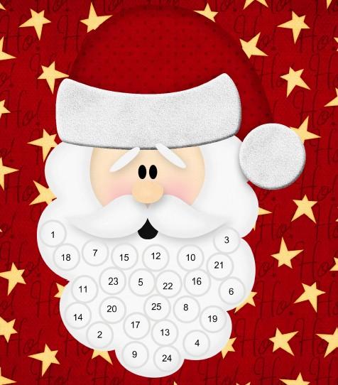Printable Santa Advent Calendar Santa S Beard Advent Calendar Printables 4 Mom