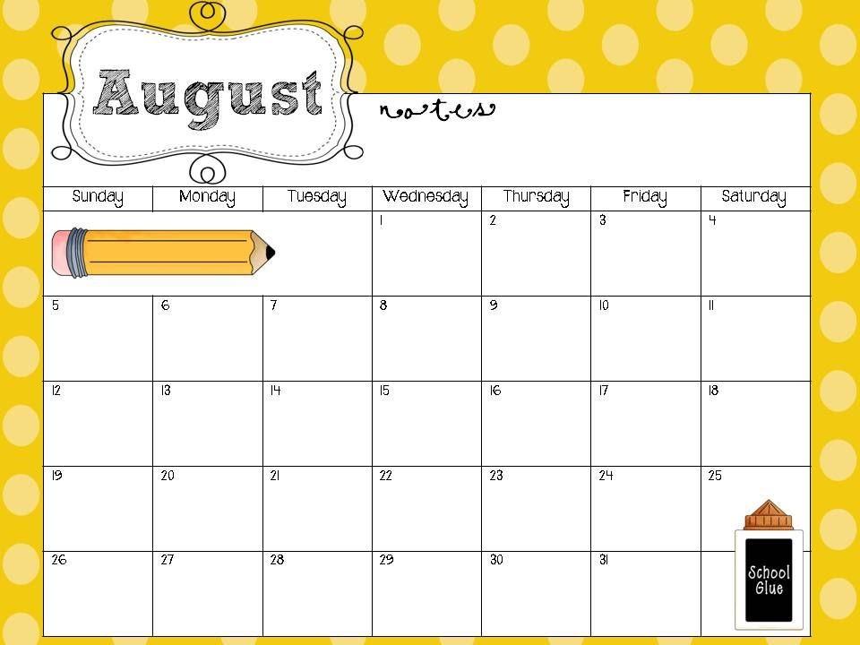 Printable School Calendars Free Printable School Calendars Templates