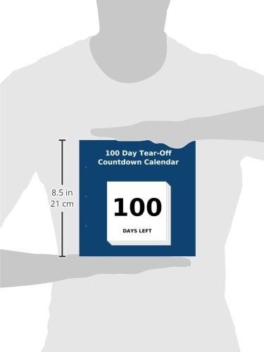 Printable Tear Off Countdown Calendar 100 Day Tear F Countdown Calendar Paperback –