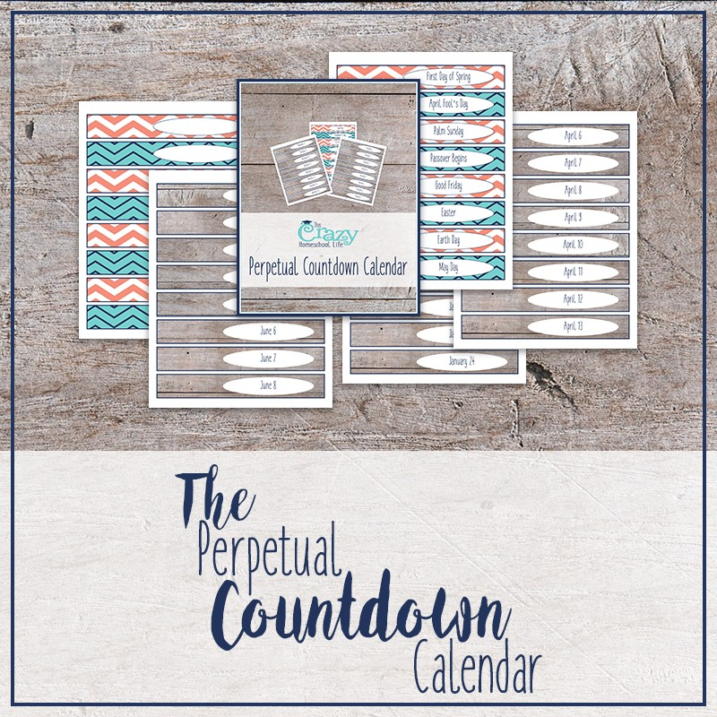 Printable Tear Off Countdown Calendar Products Archive · This Crazy Homeschool Life