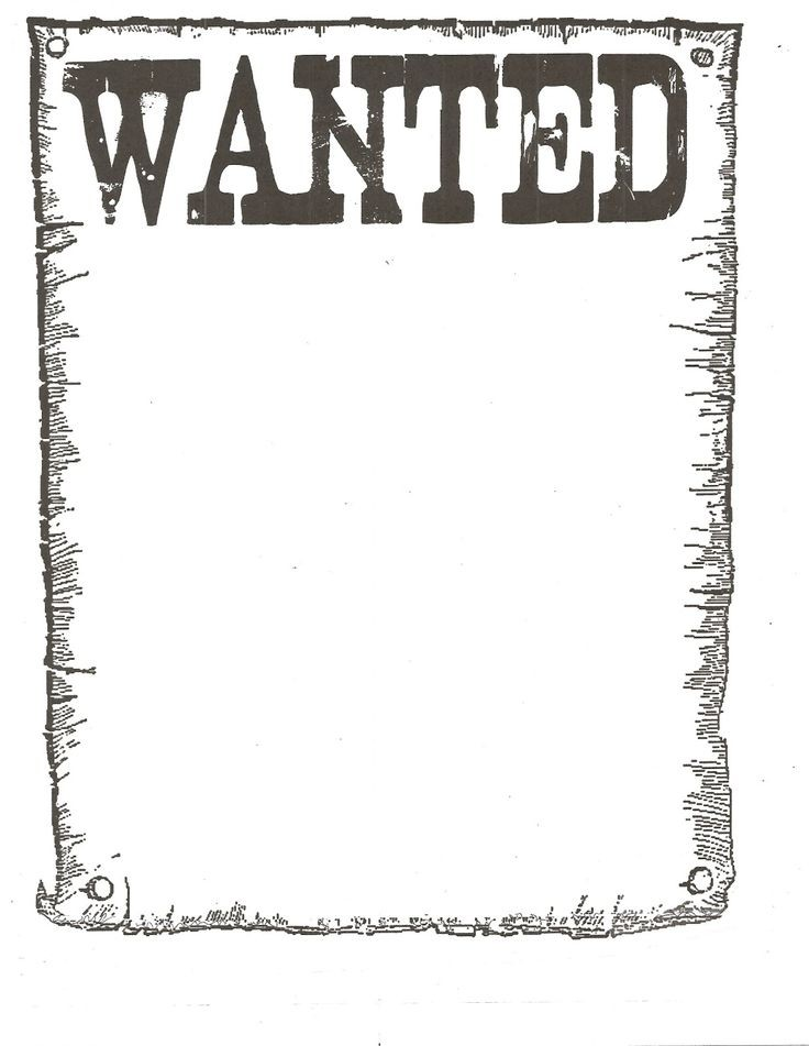 free wanted poster template Google Search