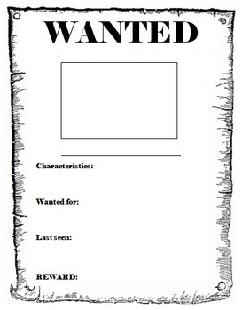 Printable Wanted Poster Template Free Wanted Poster Template by Miss Db