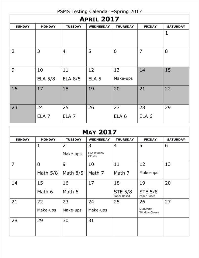 9 Birthday Calendars Free Samples Examples Formats