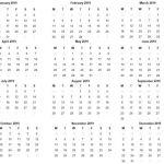 Small Printable 2019 Calendar Free 2019 Printable Calendar Template