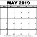 Small Printable 2019 Calendar Printable May 2019 Calendar towncalendars