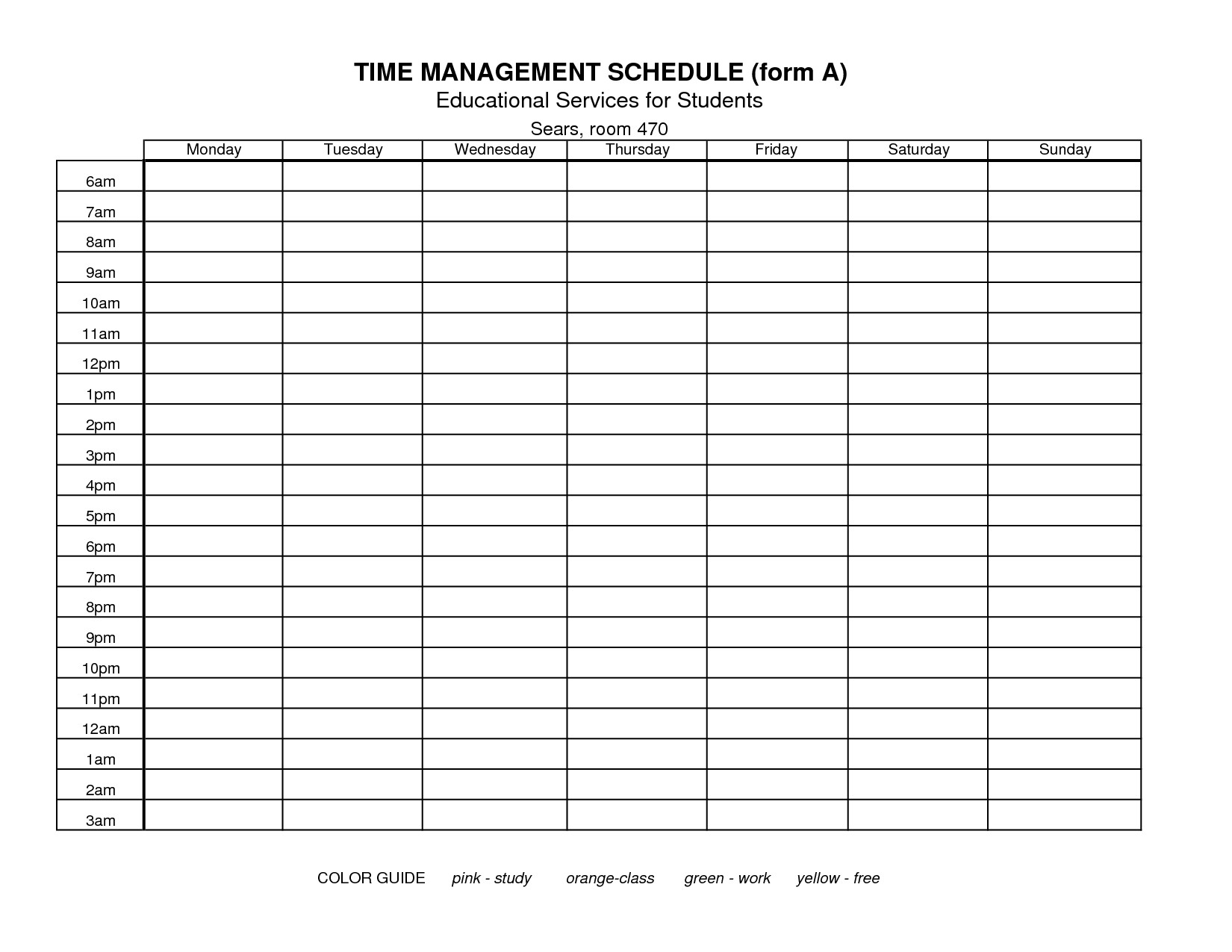 15 Best of Time Management Worksheet Weekly Time