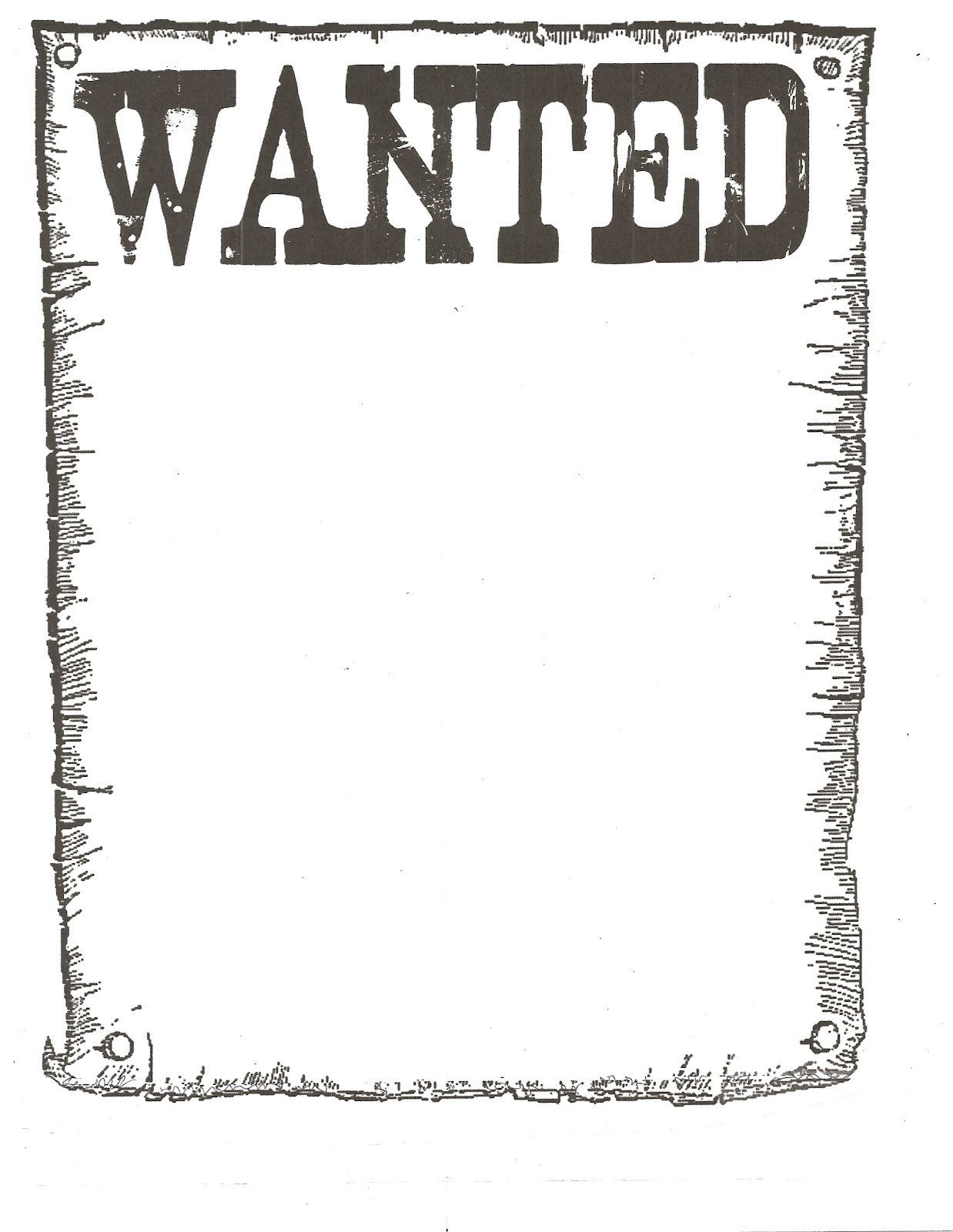 Wanted Poster Classroom Freebies