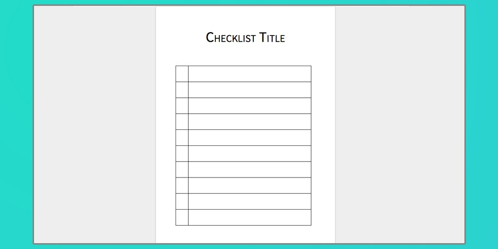 Word Template for Checklist Download Your Free Microsoft Word Checklist Template