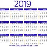 2019 2019 Academic Calendar Printable 2019 Calendar