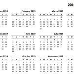 2019 2019 Academic Calendar Printable 2019 Printable Calendar Templates Pdf Excel Word Free
