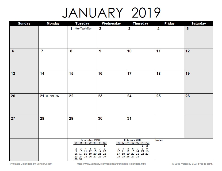 2019 Calendar by Month Printable Free Printable Calendar Printable Monthly Calendars