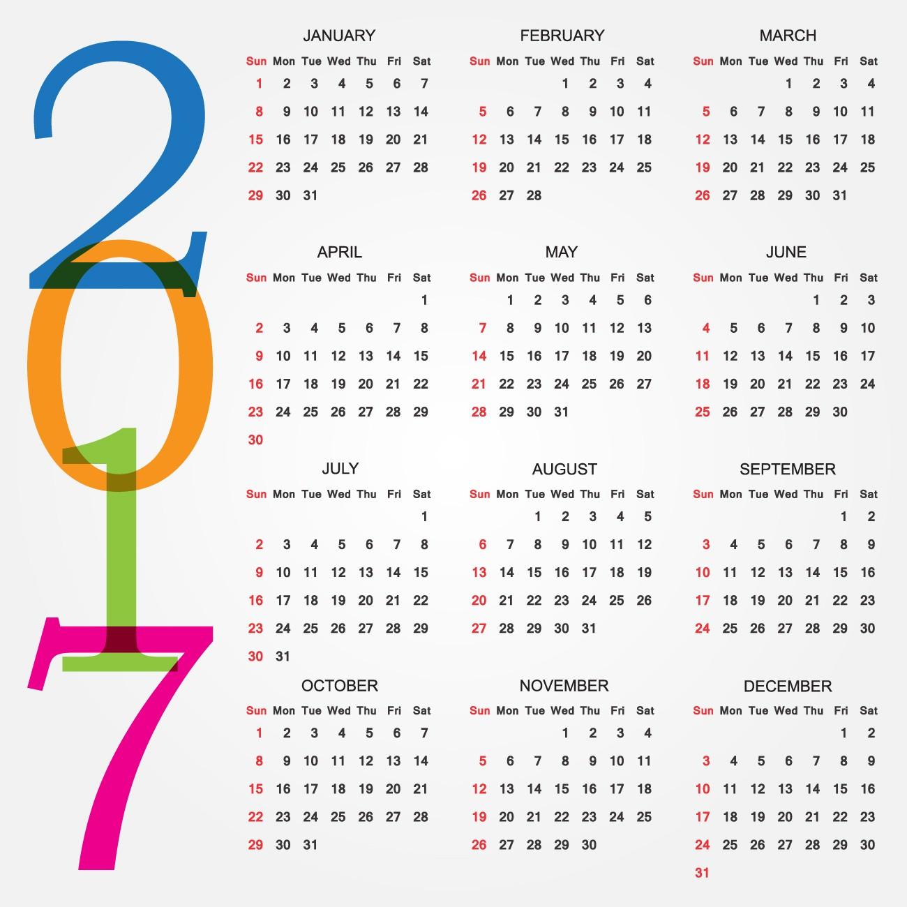 printable calendar 2017 Designs