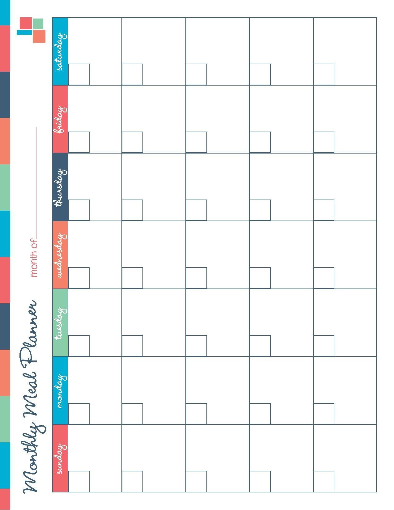 Diet Calendar Printable Free Printable Meal Planner Kitchen Set Recipes