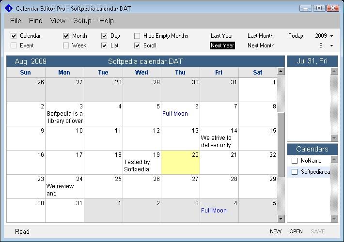 Free Printable Calendar software Download Calendar Program Pro 3 0