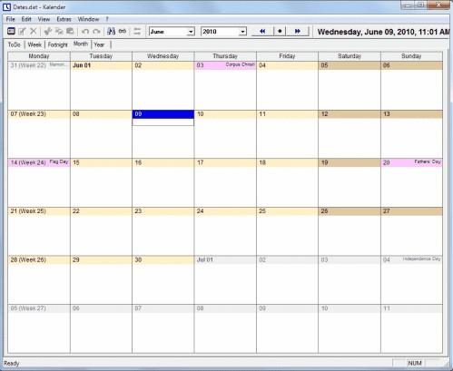 Free Printable Calendar software
