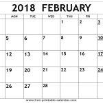Free Printable February Calendar Printable 2018 February Calendar
