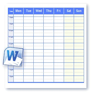 Printable Schedule Templates in Word and Open fice Format