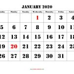 Monthly Printable Calendars 2020 Printable Calendar 2020