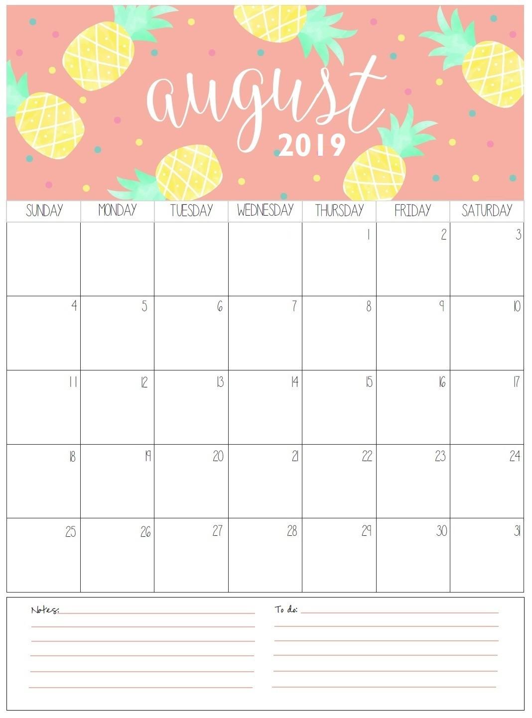Printable 2019 Monthly Calendar Monthly Printable Calendar 2019
