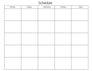 Printable 5 Day Calendar 5 Day Calendar Template by Twisted Palette Illustrations