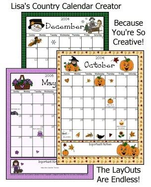 Printable Calendar Creator Calendar Creator some Free Clipart