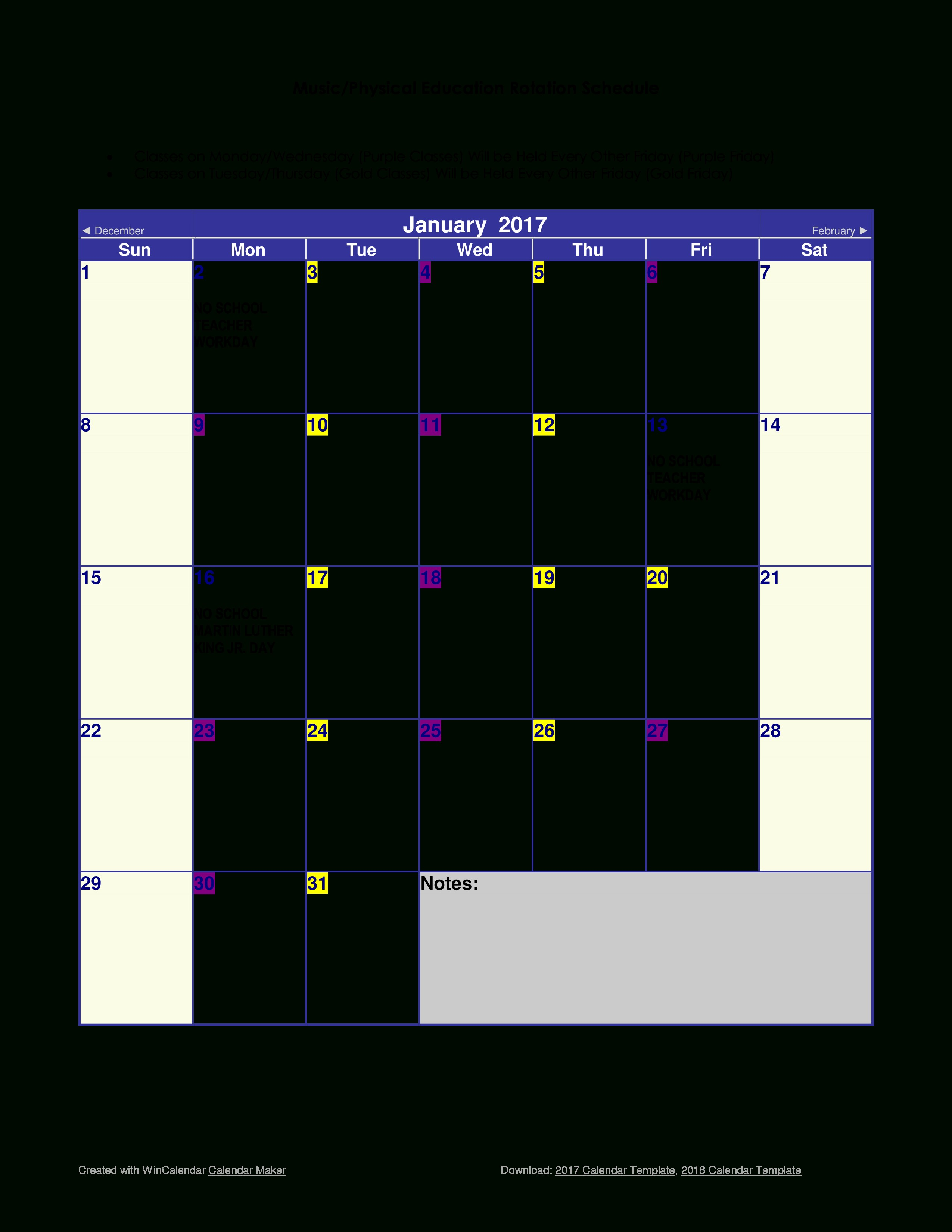 Printable Calendar Creator