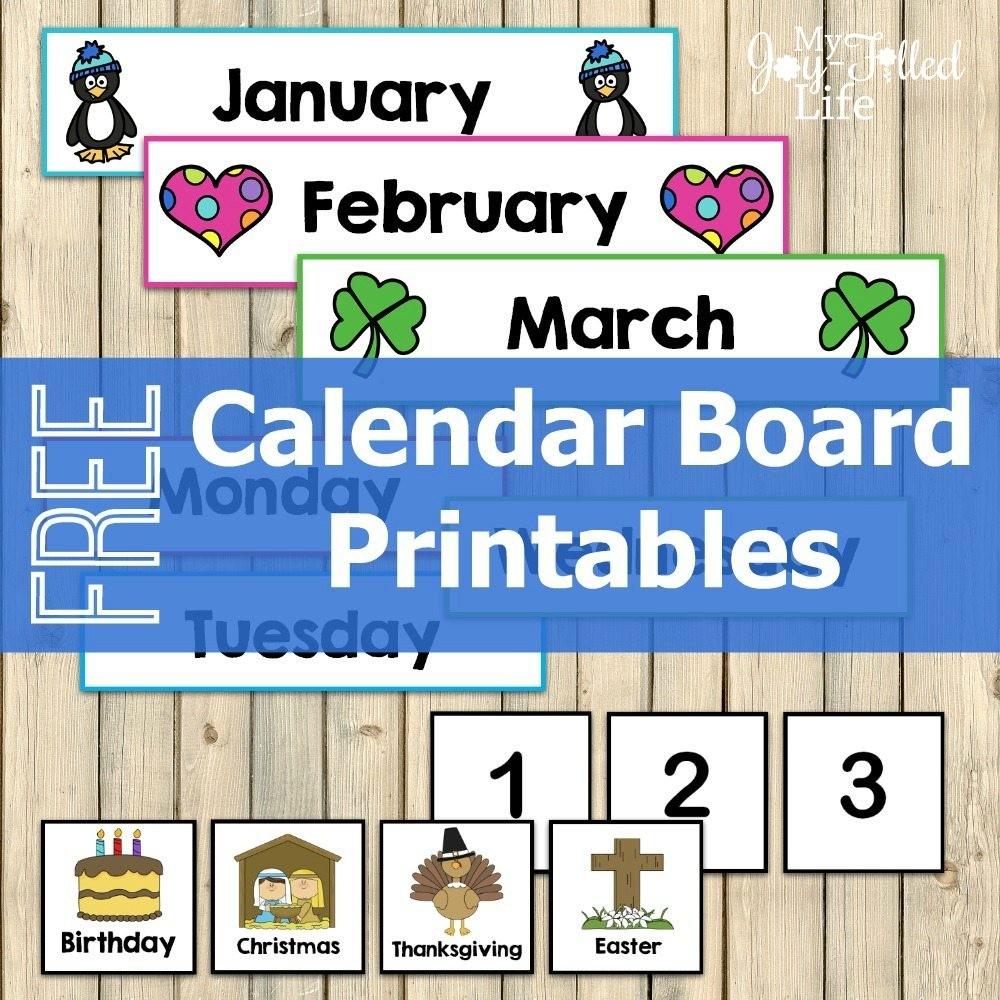 Printable Calendar Numbers Free Calendar Board Printables Homeschool Giveaways