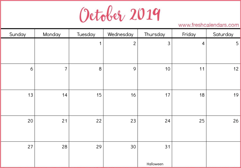 Printable Calendar October 2019 October 2019 Calendar Printable Fresh Calendars