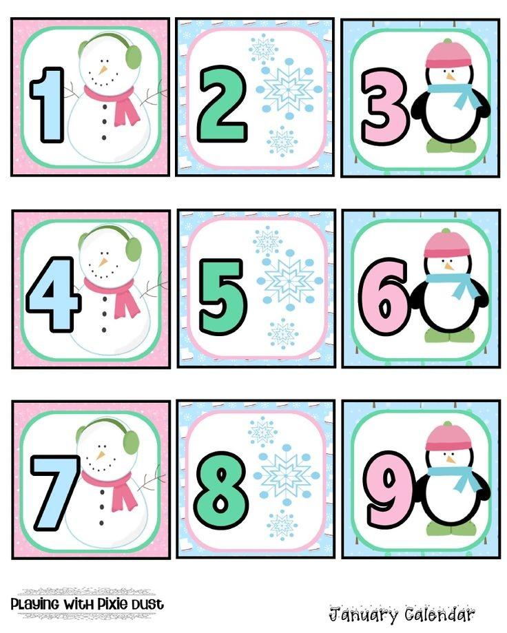 Printable Calendar Pieces 82 Best Calendar Numbers Images On Pinterest