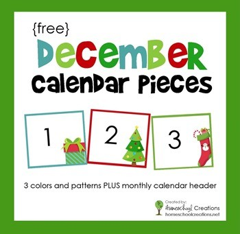 Printable Calendar Pieces December Pocket Chart Calendar Numbers