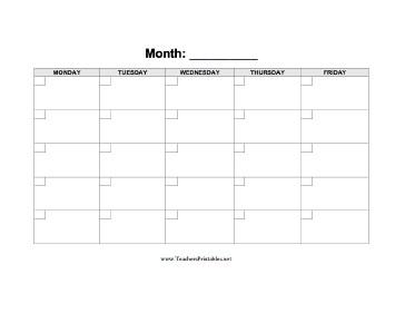 Printable Calendars for Teachers School Calendar