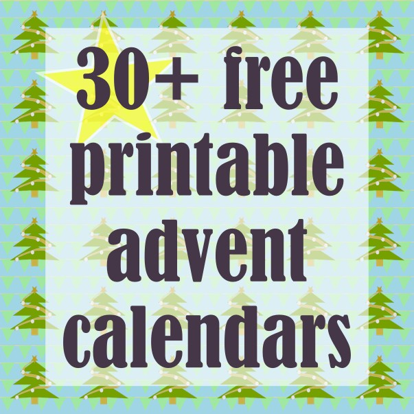 30 Free printable DIY Advent Calendars ausdruckbare