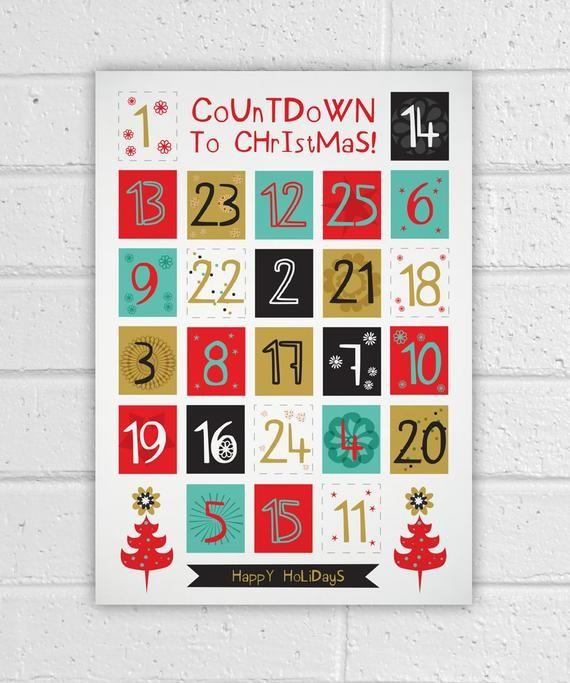 Printable Advent Calendar Holiday DIY Christmas Countdown